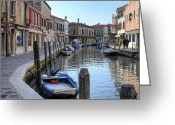 Boat Greeting Cards - Murano Greeting Card by Joana Kruse