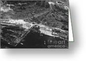 Second Photo Greeting Cards - Nagasaki, 1945 Greeting Card by Photo Researchers