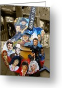 Jonny Cash Greeting Cards - Nashville Honky Tonk Greeting Card by Barbara Teller