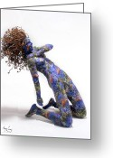 Vine Mixed Media Greeting Cards - Nectar a sculpture by Adam Long Greeting Card by Adam Long