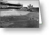 Throw Photo Greeting Cards - New York: Polo Grounds Greeting Card by Granger