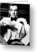 Smoker Greeting Cards - Noel Coward (1899-1973) Greeting Card by Granger