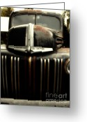 Gold Ford Greeting Cards - Nostalgic Rusty Old Ford Truck . 7D10281 Greeting Card by Wingsdomain Art and Photography