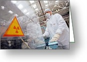 White Russian Greeting Cards - Nuclear Fuel Assembly, Russia Greeting Card by Ria Novosti