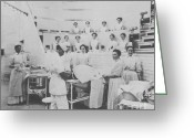 Nurses Greeting Cards - Nurses Observing An Operation, 1899 Greeting Card by Science Source