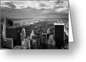 Nyc Greeting Cards - NYC Central Park Greeting Card by Nina Papiorek