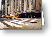 Manhattan Greeting Cards - NYC Radio City Music Hall Greeting Card by Nina Papiorek