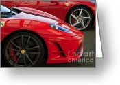 Ferrari 458 Greeting Cards - 2 of a Kind Greeting Card by Dennis Hedberg