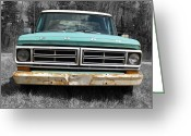 Truck Shows Greeting Cards - Old Ford Greeting Card by Brian Mollenkopf