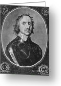 Head Of State Greeting Cards - Oliver Cromwell, English Political Greeting Card by Photo Researchers