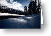 Snow Capped Greeting Cards - Open water in winter Greeting Card by Mark Duffy