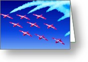 Airplanes Digital Art Greeting Cards - Over the Top Greeting Card by Garry Staranchuk