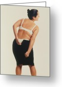 Womanly Greeting Cards - Overweight Woman Greeting Card by Cristina Pedrazzini