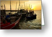 Shoreline Greeting Cards - Palaffite Port Greeting Card by Carlos Caetano