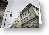Old Wall Greeting Cards - Paris street Greeting Card by Elena Elisseeva