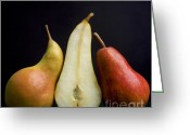 Sliced Greeting Cards - Pears Greeting Card by Bernard Jaubert