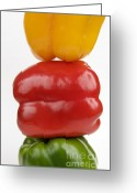 Rich Colored Greeting Cards - Peppers Greeting Card by Bernard Jaubert