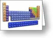 Periodic Greeting Cards - Periodic Table Greeting Card by Pasieka