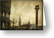St Marc Greeting Cards - Piazetta. VENICE Greeting Card by Bernard Jaubert