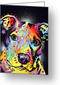 Dog Print Greeting Cards - Pitastic Greeting Card by Dean Russo