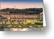 Sewickley . Greeting Cards - PNC Park  Greeting Card by Emmanuel Panagiotakis