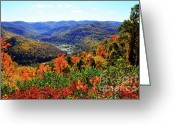 Webster County Greeting Cards - Point Mountain Overlook Greeting Card by Thomas R Fletcher