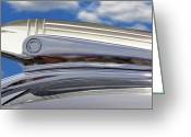 Street Rod Greeting Cards - Pontiac Hood Ornament Greeting Card by Mike McGlothlen