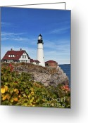 Portland Head Light Greeting Cards - Portland Head Lighthouse Greeting Card by John Greim