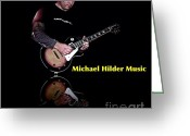 Singer Songwriter Greeting Cards - Portrait of a Musician Greeting Card by Blair Stuart