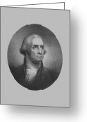 Patriot Mixed Media Greeting Cards - President George Washington Greeting Card by War Is Hell Store