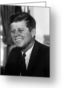 President Kennedy Greeting Cards - President Kennedy Greeting Card by War Is Hell Store