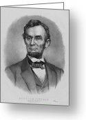 American President Drawings Greeting Cards - President Lincoln Greeting Card by War Is Hell Store