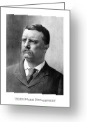 President Drawings Greeting Cards - President Theodore Roosevelt Greeting Card by War Is Hell Store
