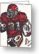 Kansas City Drawings Greeting Cards - Priest Holmes Greeting Card by Jeremiah Colley
