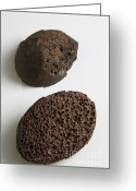 Geode Greeting Cards - Pumice Greeting Card by Photo Researchers, Inc.