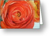 Irina Greeting Cards - Ranunculus Greeting Card by Irina Sztukowski