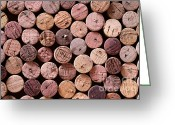 Wine Cellar Greeting Cards - Red Wine Corks Greeting Card by Frank Tschakert