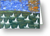 Sports Greeting Cards Greeting Cards - Regatta Greeting Card by Patrick J Murphy