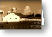 Red Barns Greeting Cards - Remember When Greeting Card by Karen Wiles