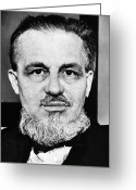 Stout Greeting Cards - Rex Stout (1886-1975) Greeting Card by Granger