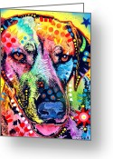 Dean Russo Art Painting Greeting Cards - Rhodesian Ridgeback Greeting Card by Dean Russo