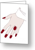 Red Woman Greeting Cards - Ring Finger Greeting Card by Frank Tschakert