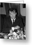 Glenn Mccurdy Greeting Cards - Robert Mitchum Greeting Card by Glenn McCurdy