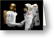 Handshake Greeting Cards - Robonaut 2, A Dexterous, Humanoid Greeting Card by Stocktrek Images