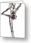 Nudes Sculpture Greeting Cards - Robotica Balletronica Greeting Card by Greg Coffelt