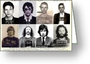 Portrait Poster Greeting Cards - Rock and Rolls Most Wanted Greeting Card by Lee Dos Santos