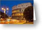 Martyr Photo Greeting Cards - Roman Coliseum Greeting Card by Brian Jannsen