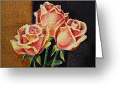 Academic Art Greeting Cards - Roses   Greeting Card by Irina Sztukowski