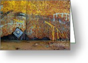 Colours Greeting Cards - Rust Colors Greeting Card by Carlos Caetano
