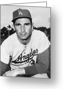 Sandy Koufax Greeting Cards - Sandy Koufax (1935- ) Greeting Card by Granger